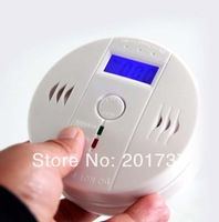 Wholesale 100pcs/lots Free shipping Home security satety system lcd co carbon gas alarm detector