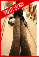 B85 women's all-match rhinestones casual knitted legging