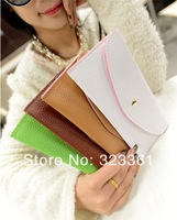 Free shipping !15 colors fashion lovely wallet card bag Women's Wallet the best gift for girl
