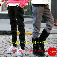 S-XXXL new  2014 autumn winters is loose recreational sports pants more add wool trousers fashion women's clothing haroun pants