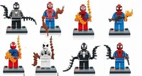 8pcs building Blocks sets super heroes the avengers spider-man star wars Chima Mini action figures Minifigures kids bricks toys