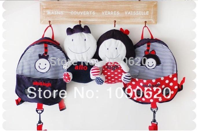 Бесплатная доставка корейского бренда лучшее качество детская школа сумка для игрушек малыша мешок ребенка bagpack по борьбе с потерянный сигнал 100% хлопок
