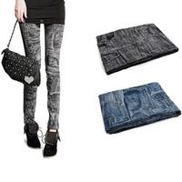 Fashion Skinny Pencil Denim  Womens Leggings Jeans Pants Trousers Jeggings Free Shipping &Drop Shipping