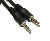5pcs free shipping 3.5mm Male to 3.5mm Male Audio Stereo Headphone Extension Cable for mp3,mp4, pc,ipod, car