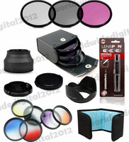 58mm Lens Hood + UV CPL FLD Filter Kit + Cap +  Graduated  ND Grey Blue Set for  Canon EOS 1100D 1000D 650D 600D 18-55mm Lens