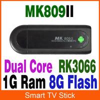 MK809ii Android 4.2 Mini PC TV Stick Rockchip RK3066 1.6GHz Cortex A9 Dual core 1GB RAM 8GB Bluetooth MK809 II 3D TV Box FreeDHL