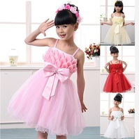 Exclusive promotion! 2014 new arrive. Girls dress. The fair maiden cake dress . The skirt with shoulder-straps. Free shipping!