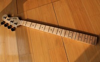 Finished BASS Guitar Neck with maple fingerboard