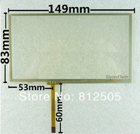 "New 6""/6.1"" resistive touch screen 149mm*83mm touch panel digitizer For GpS"