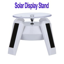 solar powered rotating display stand promotion