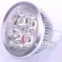 50pcs X  MR16 AC/DC/12V 12W 4x3W LED Spot light lamp Cool white bulb spotlight Aluminum zinc metal alloy Worldwide FreeShipping