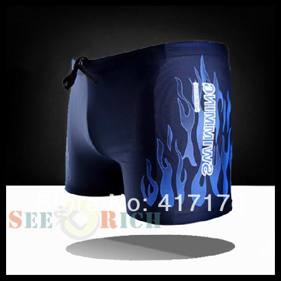 Summer Goods Preferential! High-grade!Professional Men's Boxer Swimming Trunks Flame Print Swim Shorts Men Big size Beach Wear(China (Mainland))