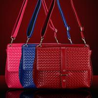 Women's handbag 2014 women's bag genuine leather one shoulder cross-body bag small fashion female knitted brief