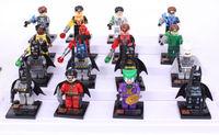 Super Heroes Avengers Classic toys Custom Building bolck action figure 16pcs/lot Green Lantern Vs Batman Robbin Clown