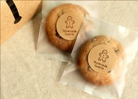 PP030 2Mixed Sizes Biscuit Food Packaging Semi-transparent Bags Cookie Packaging Wedding Gift Bags 100Pcs/lot