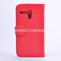 Luxury Stand Wallet Leather Case for Motorola Moto G Wallet Case with Credit Card Slot 100pcs/Lot