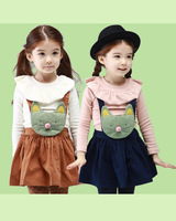 boys girls baby spring autumn summer T-shirts skirt sets child  suspender skirt childrens clothing clothes CMF-532