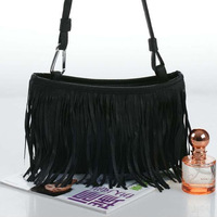 Cheapest Price Fashion Small Size Tassels Bags Three Color Option Convenience Women's Shoulder Bags Free Ship DL06408