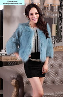 women's fashion design fox overcoat fox fur overcoat, free DHL/Fedex shipping(CRC0016-6)