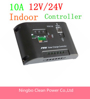 Free shipping 10A 12V 24V Solar Charge Controller Regulator Light & 15hours Timer Control auto switch