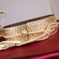 Style restoring ancient ways Wide waist sealing Ms high-grade belt