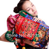 Free shipping! National women's trend handbag embroidered bag large shoulder bag personalized canvas bag messenger bag