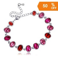 3 colors white gold plated rhinestone crystal fashion bracelet jewelry for women D6061