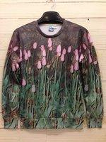 High quality 3D Print Animal Sweater Green Tulip Print Hoodies 3D Sweatshirt Women Sportwear Men