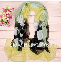 Can mix 6 colors Floral plant print georgette pashmina wrap scarf(10pcs/lot) Factory wholesale scarves