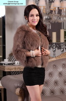 women's fashion design fox overcoat fox fur overcoat, free DHL/Fedex shipping(CRC0016-12)