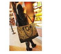 New 2014 PU Leather desigual handbag women messenger bag lace Retro Shoulder Handbag free shipping