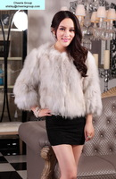 women's fashion design fox overcoat fox fur overcoat, free DHL/Fedex shipping(CRC0016-18)