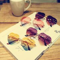 2014 Summer New Fashion Brand Rainbow Big Sweet Heart Gradual Colors Sunglasses Eyewear#SG001R