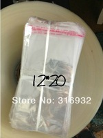 E4 Clear Resealable Cellophane/BOPP/Poly Bags 12*20cm  Transparent Opp Bag Packing Plastic Bags Self Adhesive Seal