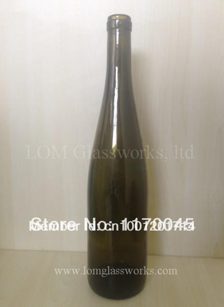 Light weight 750ml dark green red wine Glass bottle liquor bottle(China (Mainland))