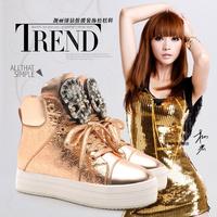Moolecole casual skateboarding shoes flat heel platform high women's shoes punk women's shoes hip-hop shoes