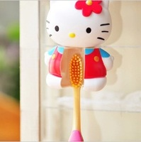 Free shpping Kitty body sculpt toothbrush/KT double suction cup automatic toothbrush holder baby gift 5pcs/lot