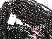 2strands/lot 6mm Natural Round Garnet Beads Bracelet Loose Beads 15.5'' Full Strand