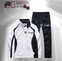 2014 New Men Spring Summer Hoodies Track Suit Set , Sportswear Man Fashion Sweatshirts, Jacket + Pant 2pcs Sets, 6 colors,L-4XL