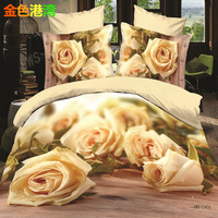 Personalized 3d oil painting piece set three-dimensional piece set laguan duvet cover three-dimensional piece set