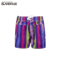 Islandhaze outdoor child beach quick-drying pants stripe swim trunks casual boxer shorts