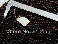 2strands/lot 4mm Natural Round Garnet Beads Bracelet Loose Beads 15.5'' Full Strand