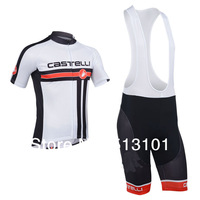 new product!!Free shipping 2014 castelli + short sleeve set cycling jersey Bicycle jersey (jersey+BIB pants)ALL IN STOCK