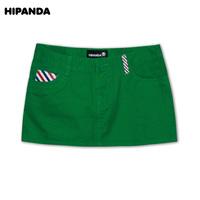 Hipanda spring and summer multicolor female khaki envelope pocket short skirt