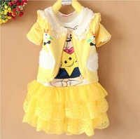 Free shipping girls cartoon clothing sets skirts autumn summer new girl's suit childrn fashion skirts baby clothing outwear