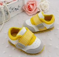 free ship fashion stripe leather 3 color kids baby boys girls children shoes PU fits 0-1 years first walkers