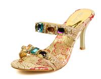 2014 Summer Princess Bohemia High-heeled Sandals Fashion Sexy Glass Slipper High Quality Rhinestone Mules Free Shipping