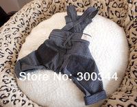 HOT NEW Fashion Pet Clothes Dog Puppy Teddy Snow Flake Jeans Bib Stripe Pants/trousers
