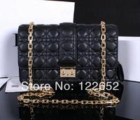 2014 sheepskin plaid famous brand bag female with logo popular shoulder chain bag 1:1 top quality free shipping B-60