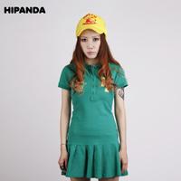 Hipanda green tennis ball short skirt